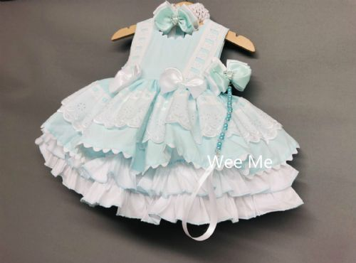 Gorgeous Wee Me Baby Girl Mint Puff Ball Summer Dress Set